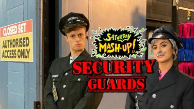 Saturday Mash-Up! - Security Guards stop Max and Harvey!