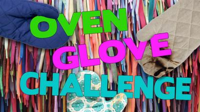 Saturday Mash-Up! - Oven Glove Challenge: tying shoelaces!