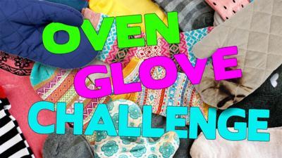 Saturday Mash-Up! - Oven Glove Challenge: putting socks on!