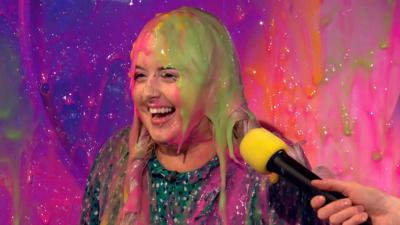 Saturday Mash-Up! - Katie Thistleton gets SLIMED!