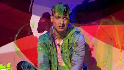 Saturday Mash-Up! - Blue Peter's Richie gets a MASSIVE sliming!