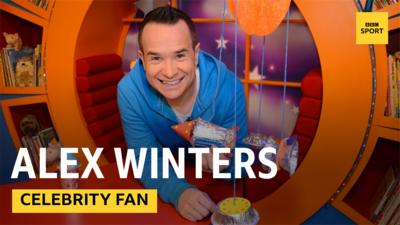 Alex Winters in the CBeebies House