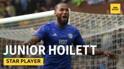 Junior Hoilett scores for Cardiff City.
