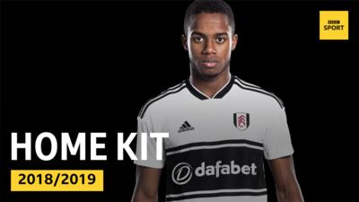 Fulham's teenage wonderkid Ryan Sessegnon wearing the 2018/2019 home kit.
