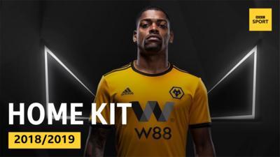 Wolverhampton Wanderers' home kit 2018/2019