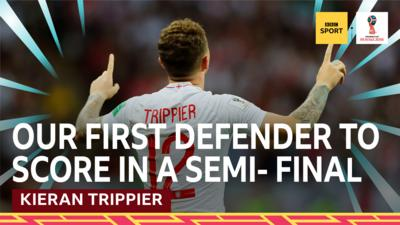 Kieran Trippier celebrating scoring