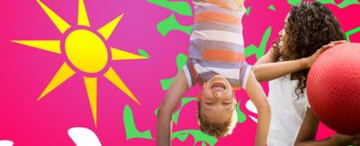 Promo images for summer holiday activity finder quiz
