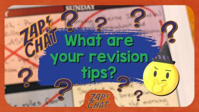 Text reads 'What are your revision tips?'.