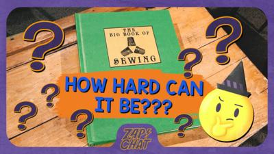 Book on a desk entitled 'the big book of sewing'. Text on image: How hard can it be?.