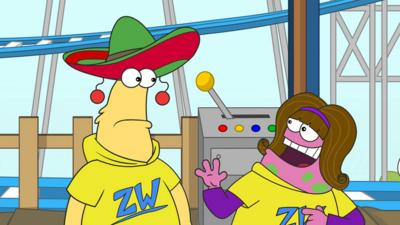 Zig and Zag - The Zoom-a-Doom rollercoaster breaks down