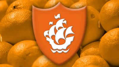 Blue Peter orange badge