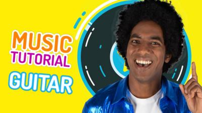 CBBC - How to play the air guitar with Blu & Rio
