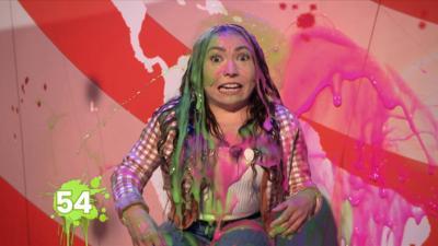 Saturday Mash-Up! - WATCH: Annabelle Davis gets superslimed