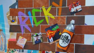 Art Ninja - Make a graffiti wall style pin board