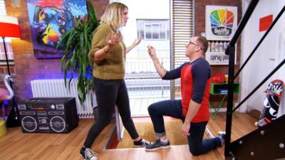 Art Ninja - Ricky accidentally proposes to Sarah
