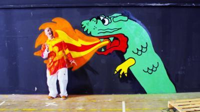 Art Ninja - Gav gets involved in a dragon animation