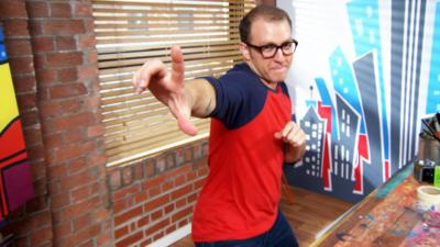 Art Ninja - Ricky gets inspired by his dodgy dancing
