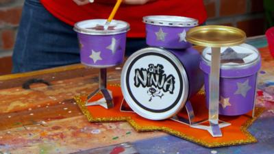 Art Ninja - Make a drum kit desk tidy