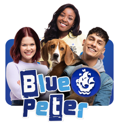 The Blue Peter presenters.