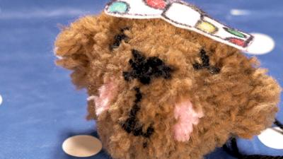 Blue Peter - Make a Pom Pom Pudsey and a Blush Plush