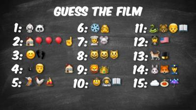 Different films, represented by emojis.