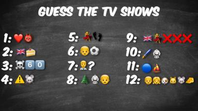 Emojis in the order to describe tv shows.