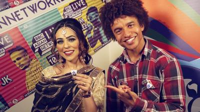 Blue Peter - Radzi meets the headliners at Asian Network Live