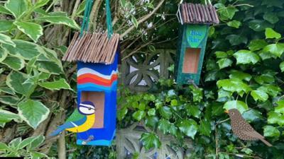 Blue Peter - Make a birdhouse feeding station