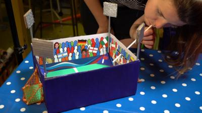 Blue Peter - Make a blow football stadium