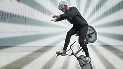 Blue Peter - Matti Hemmings shows off his BMX skills!