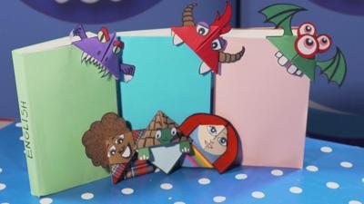 Blue Peter - How to make a funky bookmark