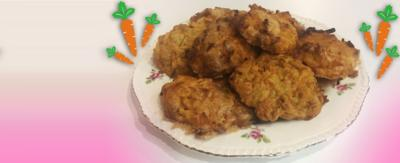 Carrot cookies on a plate