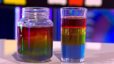 Blue Peter - Make a rainbow in a glass
