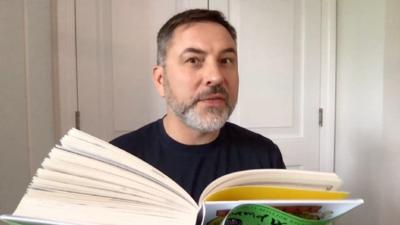 Blue Peter - David Walliams reads his new book