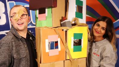 Blue Peter - Cardboard doll's house goes very wrong