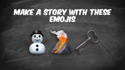 Write a story, using these emoji's: Snowman, Volcano, key.