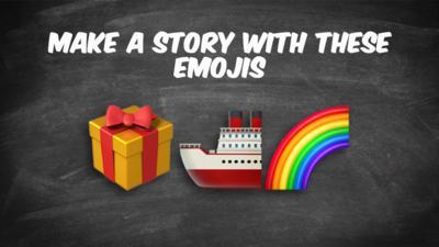 A present, a ship and a rainbow.