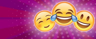 Three happy emoji's