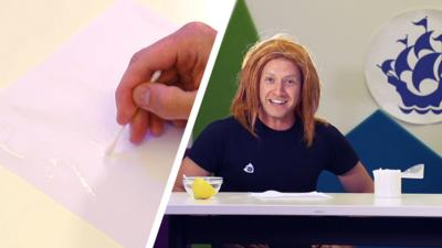 Blue Peter - How to make invisible ink with the Art Ninja