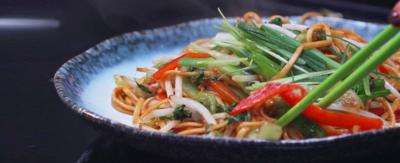Jeremy Pang's veggie chow mein.