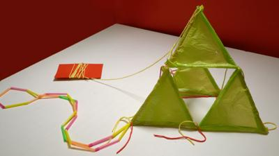 Blue Peter - How to make a recycled plastic bag kite