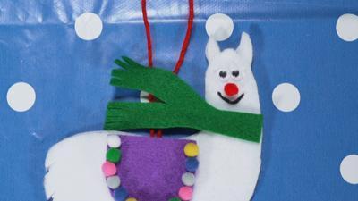 Blue Peter - How to make a Christmas llama ornament