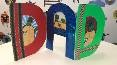 Blue Peter - Make: Zig-zag Father's Day card