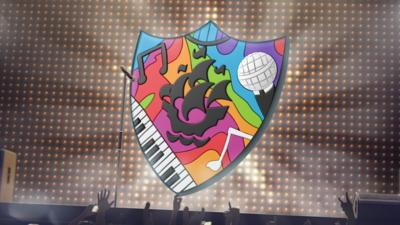 The Blue Peter Music badge.