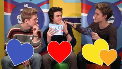 Blue Peter - New Hope Club read out cheesy chat-up lines!