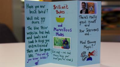 A home made leaflet about the BP website