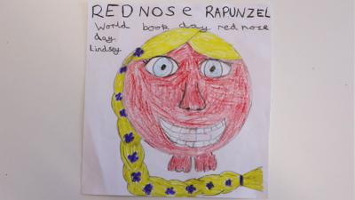 Red nose day post of the week: Red nose Rapunzel