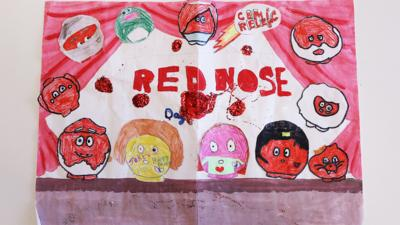 Red nose day post of the week: red nose painting