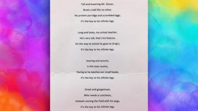 Blue Peter - Post of the Week: Hilarious school poem
