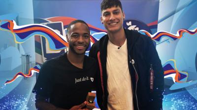 Blue Peter - Raheem Sterling gets his Gold badge